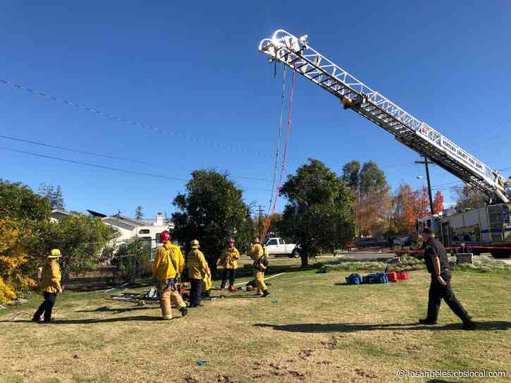 Crews Working To Rescue Man From Abandoned Well In Simi Valley