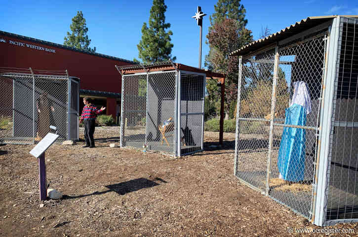 Claremont church Nativity scene depicts Holy Family as caged refugees