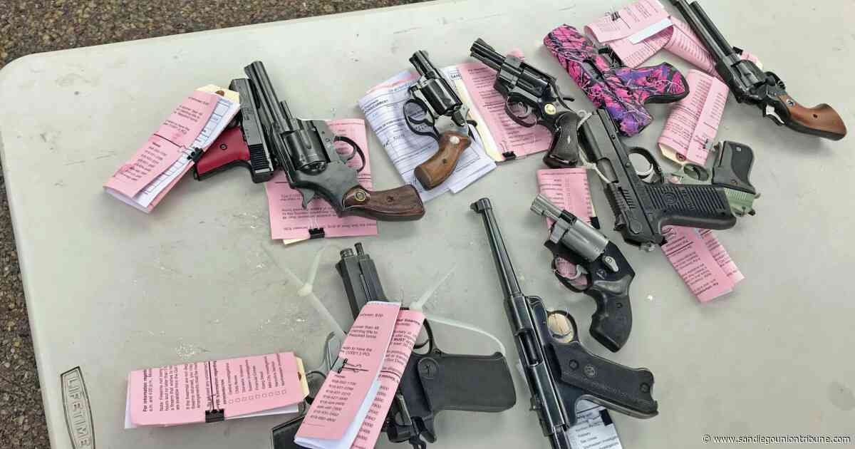 Hundreds of guns collected in Encanto at annual buy back event