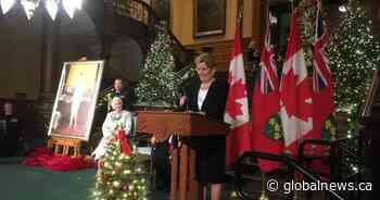 Official portrait of former Ontario premier Kathleen Wynne unveiled