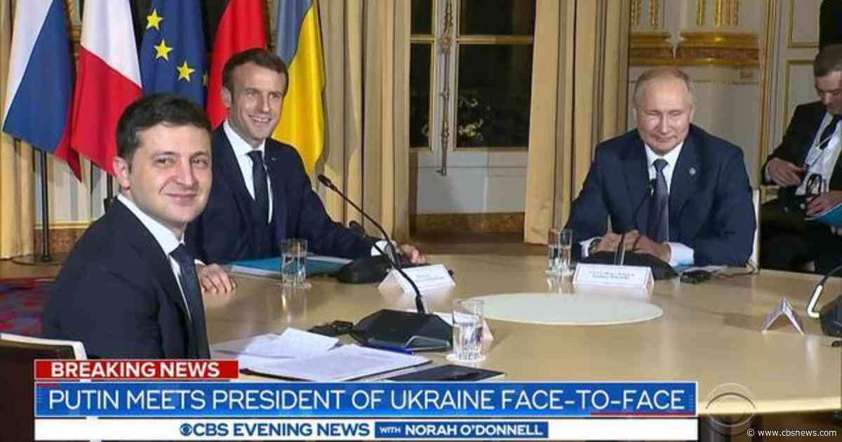 Putin meets with Ukraine leader Zelensky for the first time