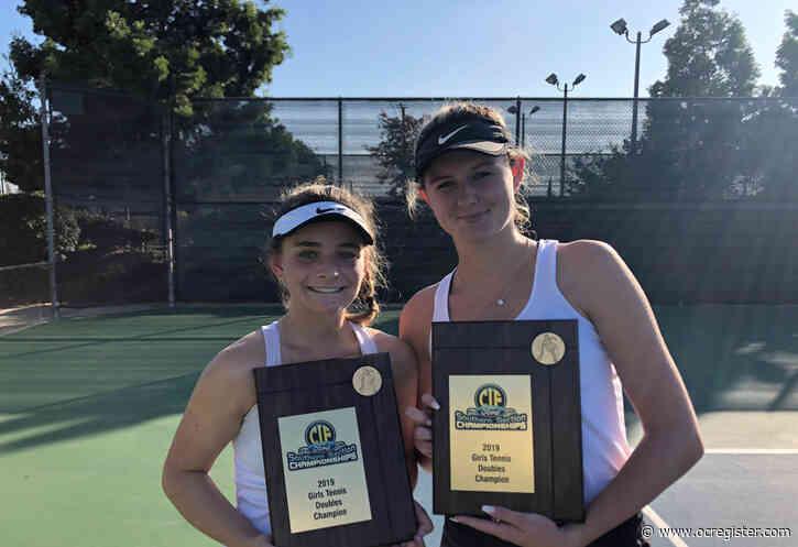 Childhood pals Ella Pachl, Sarah MacCallum storm to CIF doubles title for Laguna Beach