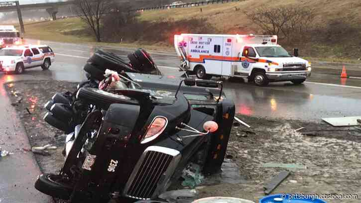 Ambulance Struck By Tractor Trailer While Responding To Another Crash