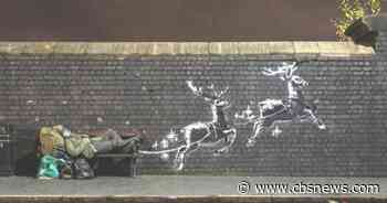 Banksy paints holiday mural highlighting homelessness