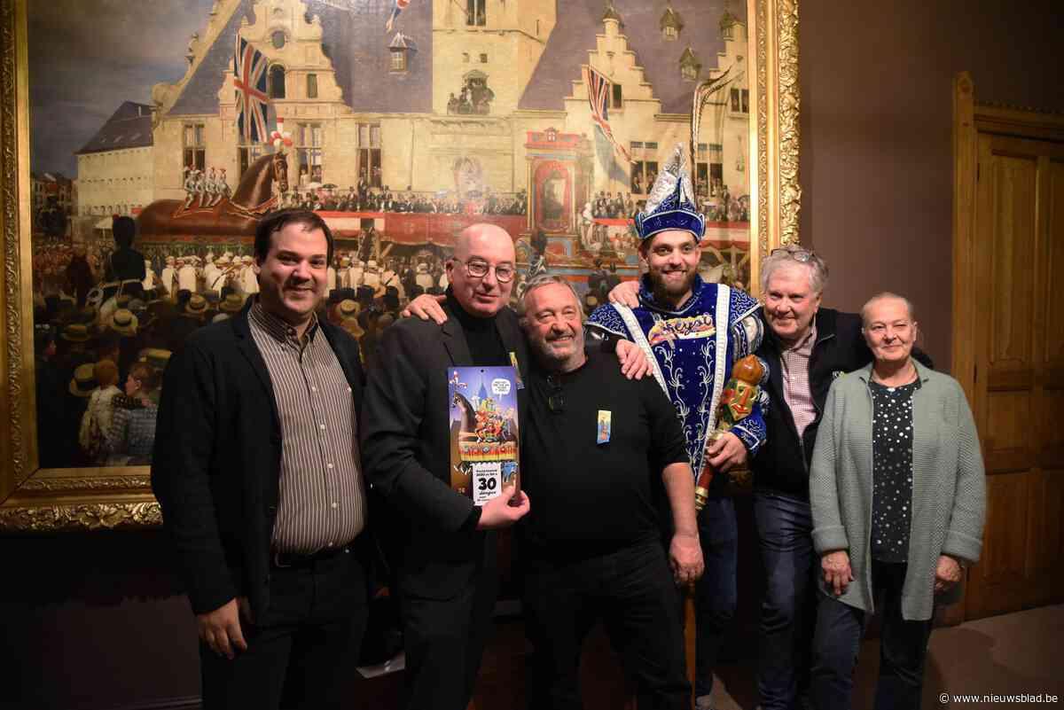 Aalsterse carnavalisten stellen aftelkalender voor in… Dendermonde