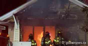 Firefighters respond to blaze at home near Edmonton's Commonwealth Stadium
