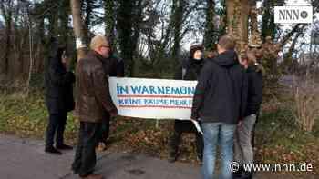 Einwohner protestieren gegen das Fällen der Bäume