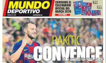 Barcelona 'won't sell Man Utd and Juventus target Ivan Rakitic in January transfer window'