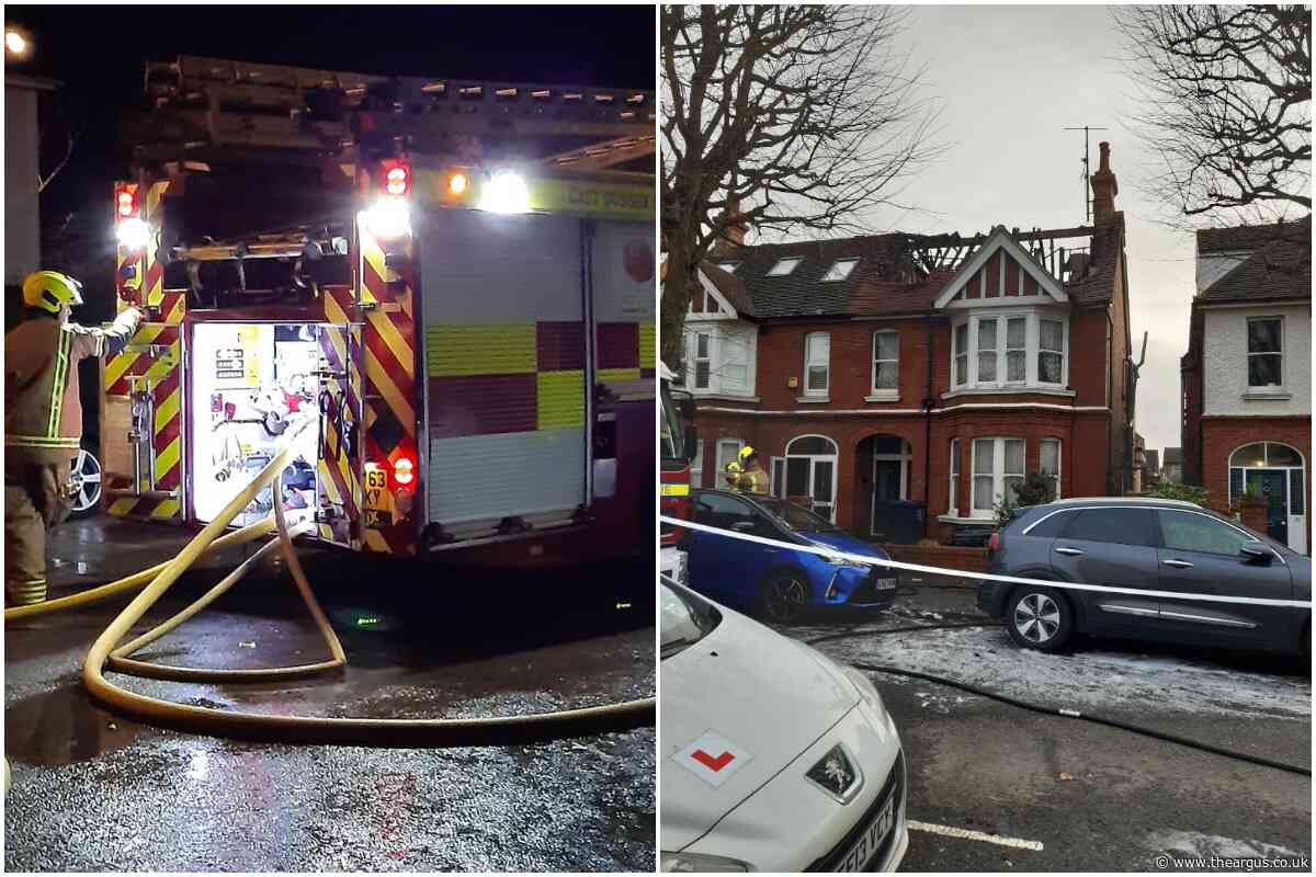 Fire breaks out in Leicester Villas, Hove