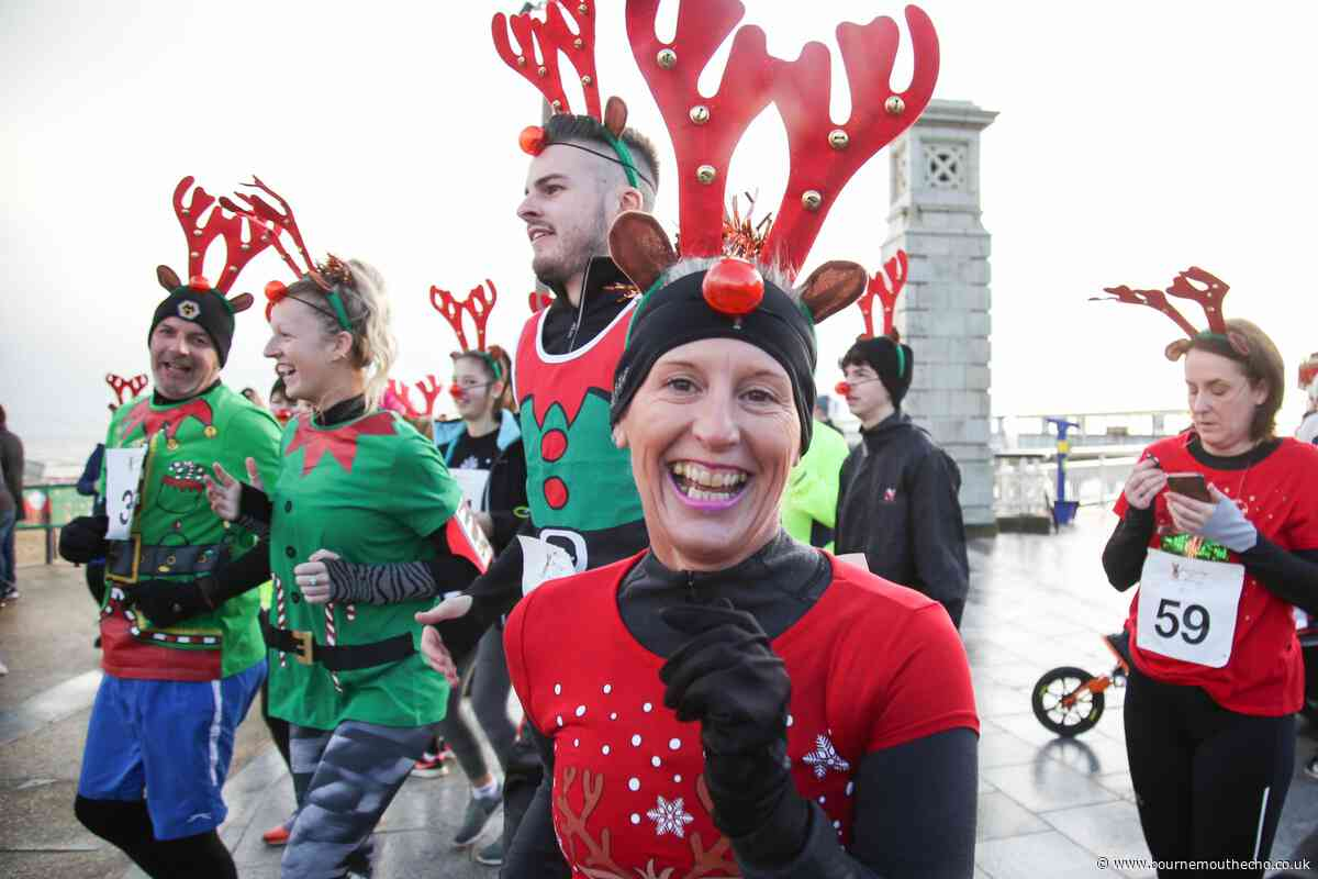 PICTURES: Runners don antlers and red noses for first-ever Deer to Pier run