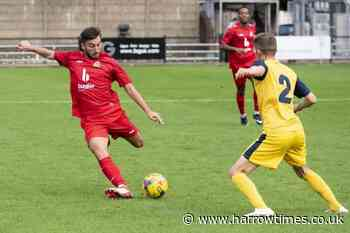 Nine-man Harrow Borough thrashed by Tiverton Town at home