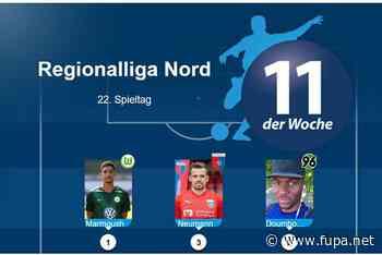 Regionalliga Nord: Das ist die Top-Elf des 22. Spieltags