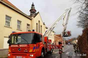Stormweer treft kapel in Hooglede