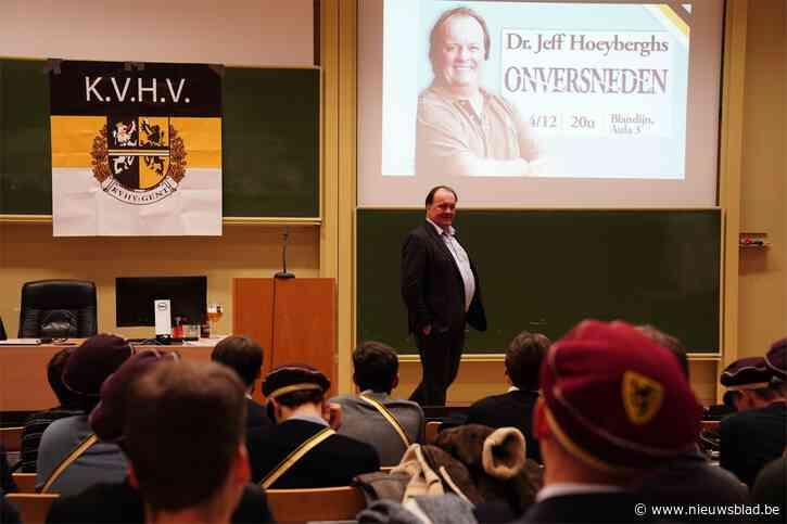 Massa klachten na seksistische lezing van Jeff Hoeyberghs, Orde der Geneesheren opent onderzoek