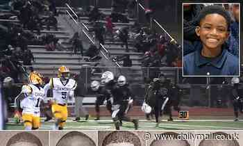 PICTURED: Boy, 10, critically wounded in a shooting during a New Jersey high school football game