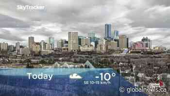 Edmonton early morning weather forecast: Tuesday, December 10, 2019