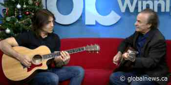 Joey Gregorash performs at Global News Morning Winnipeg