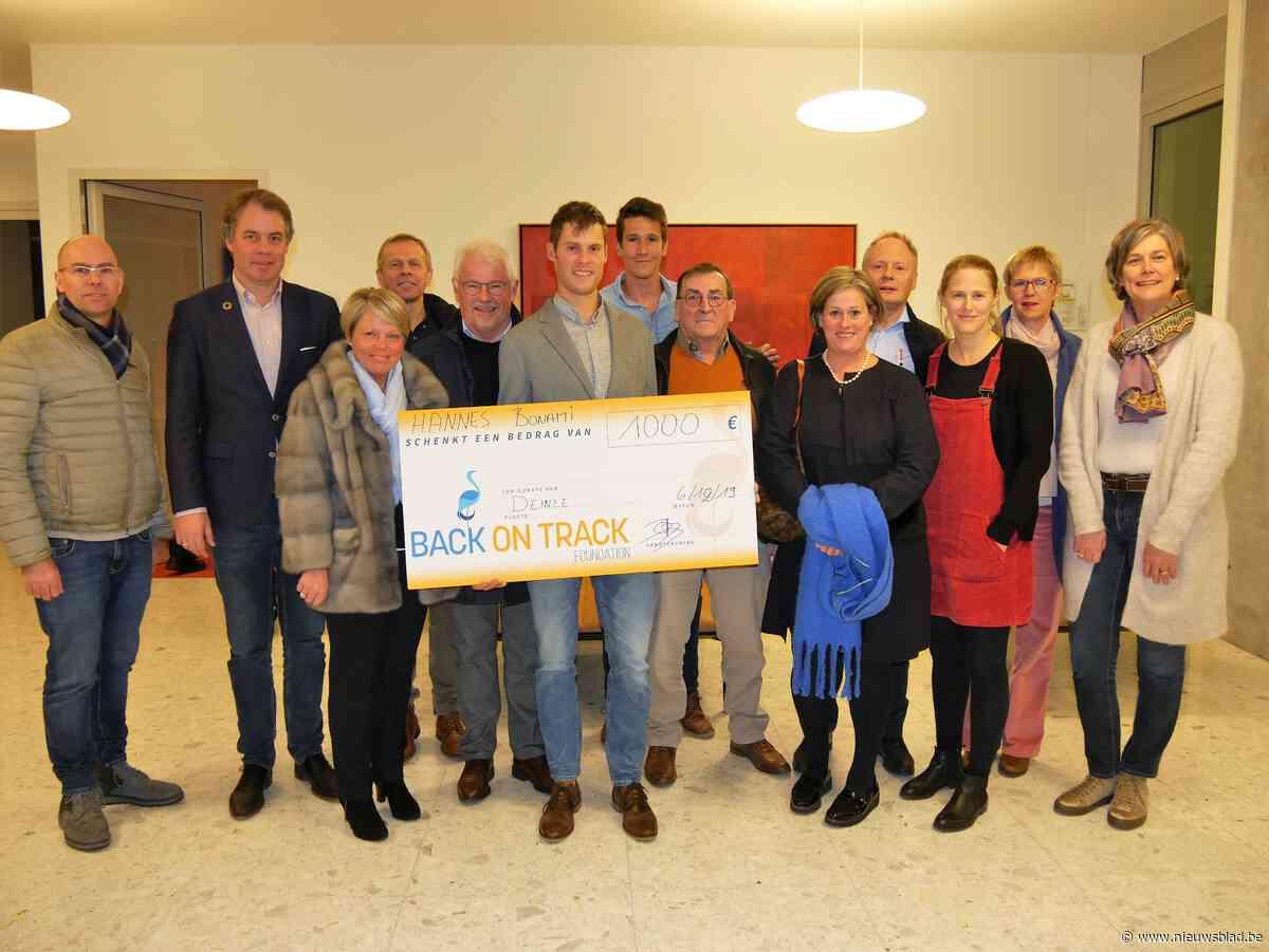 Triatleet Hannes Bonami steunt Back on Track Fonds