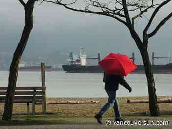 Vancouver weather: Chance of drizzle starts late this morning