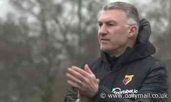 Nigel Pearson claims his job is to make Watford players believe as he takes first training session