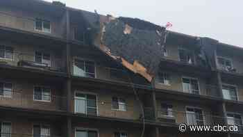 High winds damage 2 Saint John apartment buildings, force 100 people from their homes