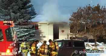 Firefighters battle blaze at home in west Edmonton