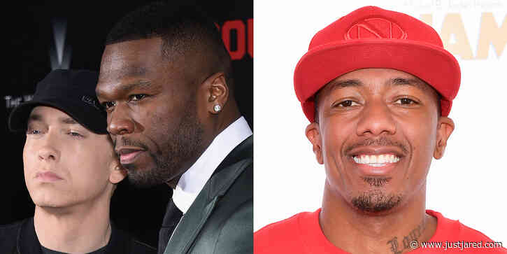 50 Cent Gets Involved in Nick Cannon & Eminem Feud, Says He Could 'Kick' Nick Over This