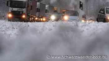 Höllental: Starke Schneefälle sorgen für Verkehrschaos auf B 31