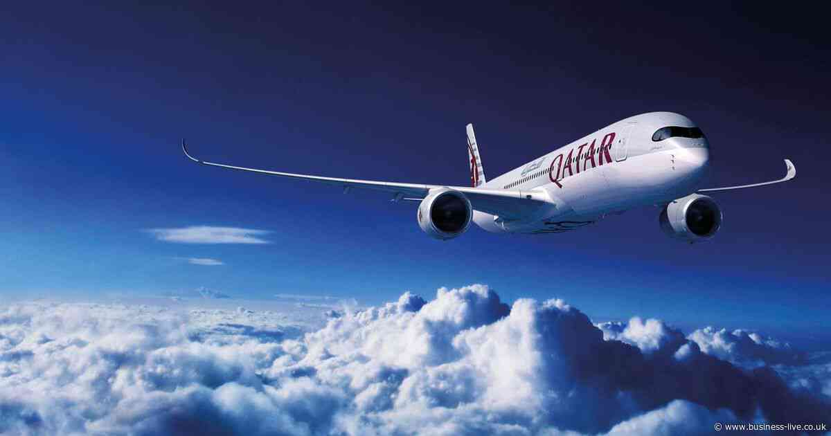 How many people are flying on Qatar Airways' Cardiff to Doha route?