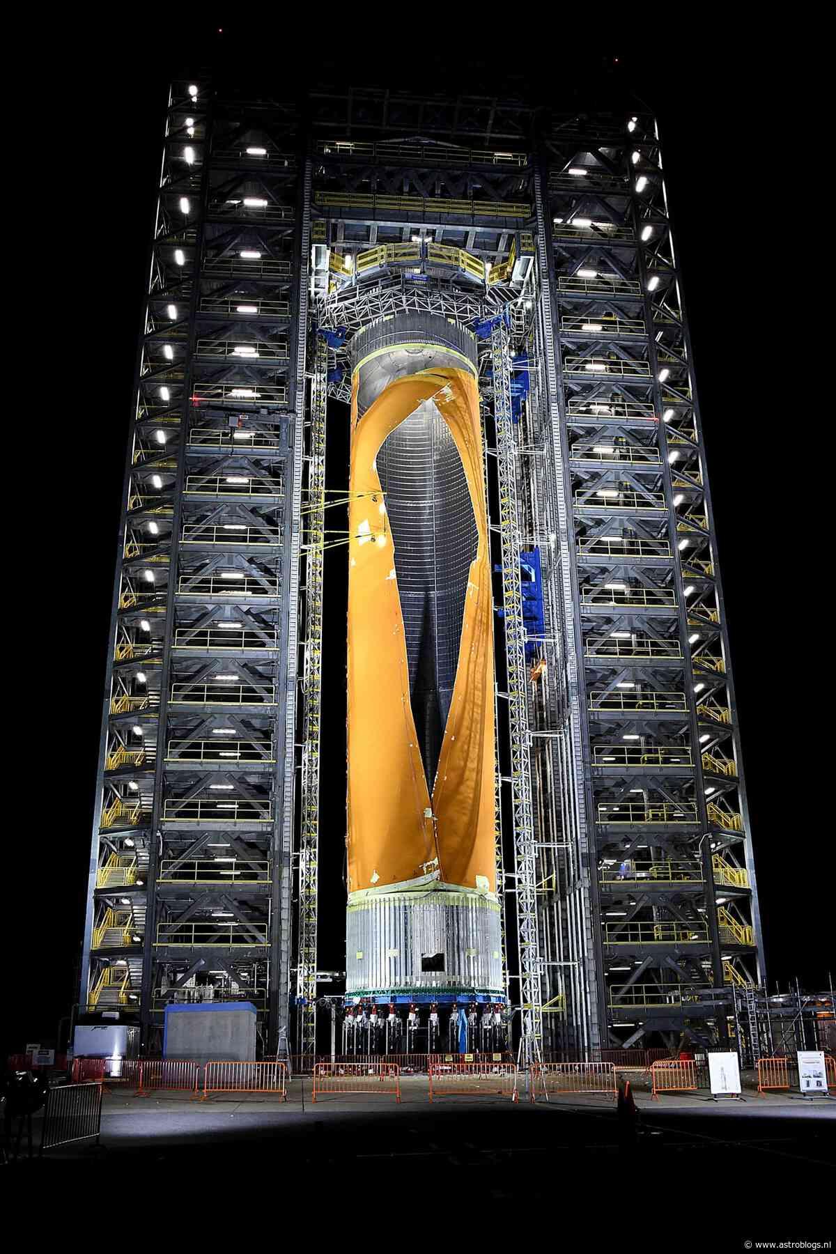 Boem, toen scheurde de brandstoftank van NASA´s Space launch System helemaal open