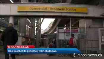 Deal reached to avoid SkyTrain shutdown