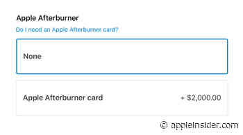Afterburner card is a $2,000 add-on for the Mac Pro, and wheels are $400