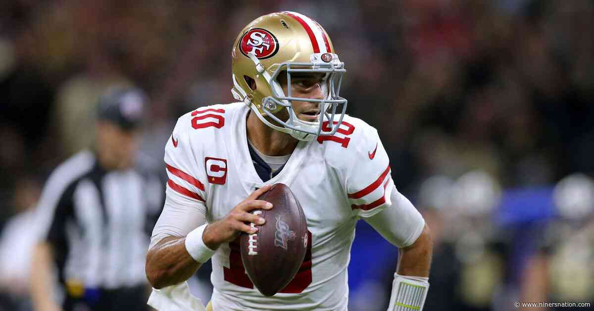 Sunday's performance from Garoppolo was his best yet