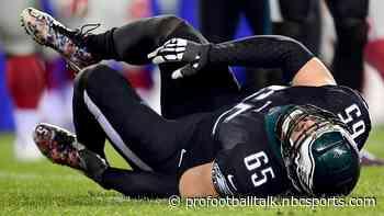 Lane Johnson week-to-week with high ankle sprain