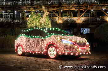 Outdo your neighbors with this Nissan Leaf mobile Christmas tree