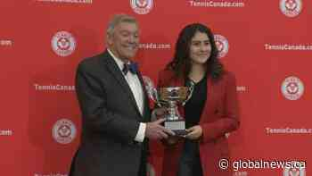 Bianca Andreescu receives Lou Marsh Trophy as Canada's athlete of the year