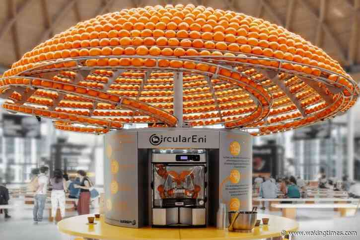 Zero-Waste Juicing Machine Uses 3D Printer To Make Cups From Orange Peels