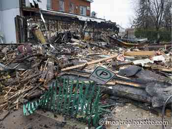 All that remains is a pile of rubble and twisted metal