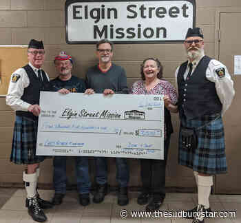 Sudbury pipers hold a a reverse 'Movember' for Elgin Street Mission