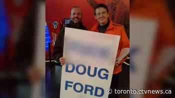 NDP MPP apologizes for posing with 'F*** Doug Ford' sign