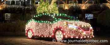 Une Nissan LEAF transformée en sapin de Noël