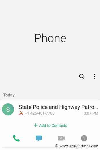 No, the Washington State Patrol isn't leaving you voicemails about bomb threats