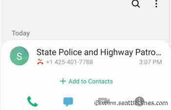 Scammers are calling Washington state residents from what looks like a State Patrol phone number