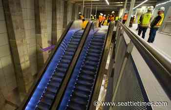 Sound Transit shows off nearly complete Roosevelt light-rail station — and its heavy-duty escalators