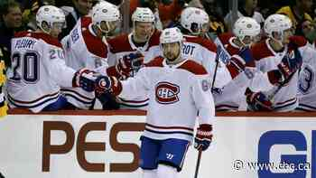 Canadiens end Jarry's shutout streak, race past Penguins