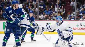 Andersen stones Canucks to lead Leafs to win in 1st game of Western Canada swing