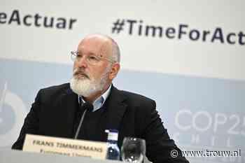 Timmermans wil alle EU-besluiten onder een klimaatloep
