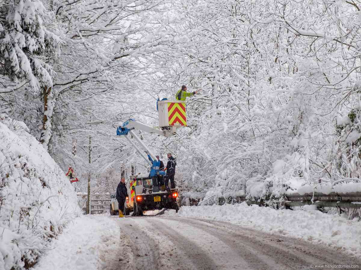 Two years ago this week... snow chaos in Herefordshire