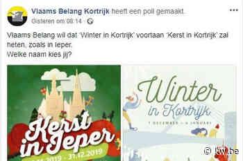 Stad overweegt klacht tegen Vlaams Belang voor poll over 'Winter in Kortrijk'