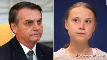 Greta Thunberg labeled a 'brat' by Brazilian President Jair Bolsonaro